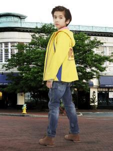 迪士尼童装黄色男童休闲运动外套