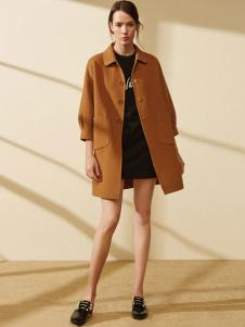 迪赛尼斯女装灯笼袖廓形大衣