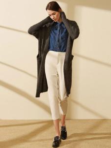 迪赛尼斯女装灰色线衫外套