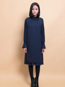 37度love女装新款黑色时尚长裙