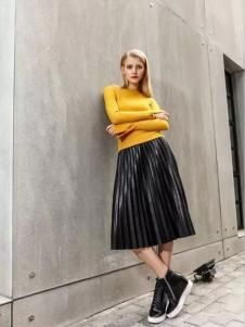 彩衫C2P女装2017新品羊毛打底衫