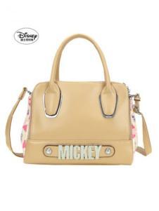 迪士尼箱包米色手提包