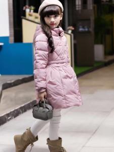 淘淘猫粉色A字版羽绒服