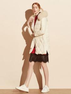 迪赛尼斯女装毛领羽绒服