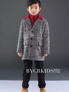 布衣草人童装男童呢大衣