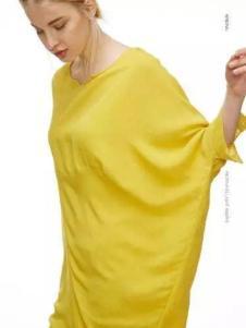 初次印象女装2017春装新款柠檬黄上衣