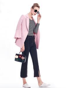 知彩17春季新款粉色外套