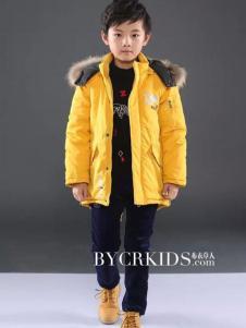 布衣草人童装黄色棉风衣