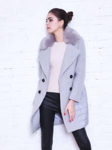 艾诺绮女装灰色时尚大衣