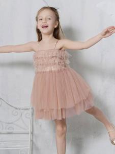 贝甜童装女童吊带纱裙