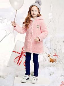 DEESHA笛莎童装粉色连帽外套