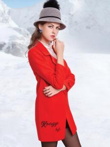 丹妮丽人红色服饰新款