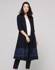 黛英女装2017春夏新品中式长款外套