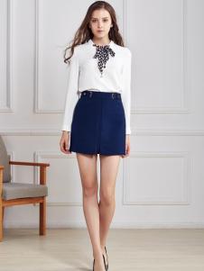 都市衣柜白色雪纺衬衫