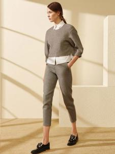 迪赛尼斯女装灰色简约套装