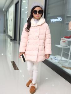 淘淘猫粉色冬装棉服