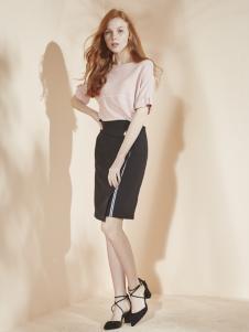 香影女装春款黑色包臀裙