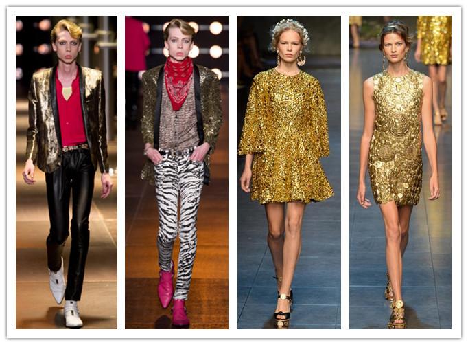 土豪金变身时尚金 金色单品也有搭配原则