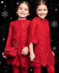 杜嘉班纳圣诞童装 喜气洋洋的针织蕾丝