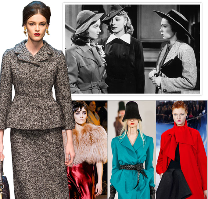 2013秋冬流行趋势:从二战风格套装到华美New Look