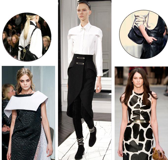 2013秋冬流行趋势:黑色与白色的撞色游戏带来时尚新潮流