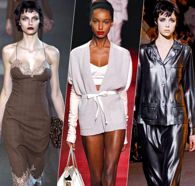2013秋冬流行趋势:睡袍罩衫穿出街