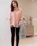 长衬衫+打底裤巧搭配 舒适尽显气质型
