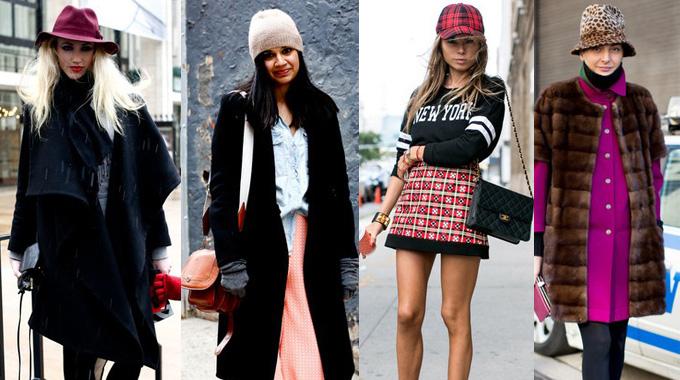 达人冬日保暖示范配着帽子出街凹造型
