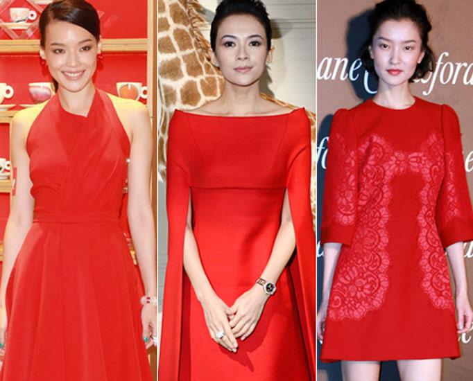 """华语明星最爱单品之""""新年红""""衣装"""