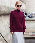 街拍秋冬当红款大毛衣 要长要低调