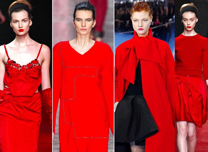 2013冬季流行色之红色系时装:暖意浓浓将喜气和好运穿上身