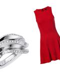 情人节的中国红礼服与各大珠宝品牌订婚钻戒推荐