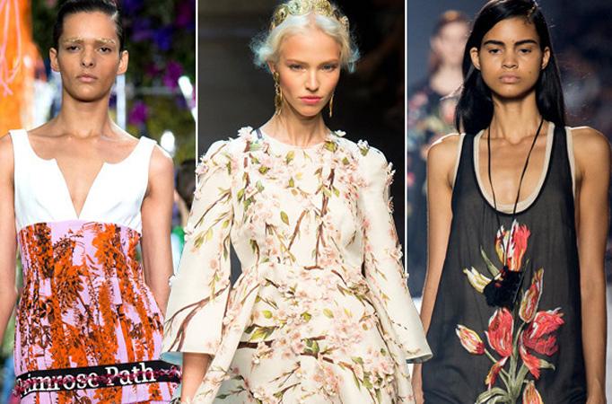 2014春夏流行趋势之花朵元素:从立体花卉到抽象印花