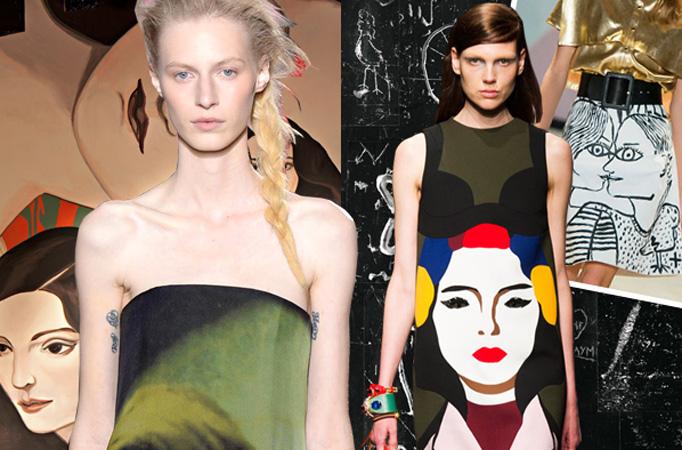 2014春夏流行趋势之艺术印花时装