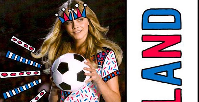 时尚潮搭 做世界杯中的运动少女