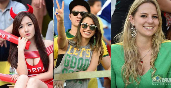 窥世界杯球迷席 方知贵国妹子质量