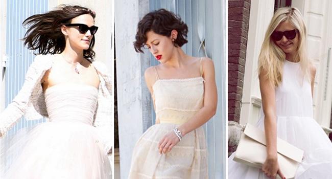 不会穿衣不怕 一条小白裙陪你过夏