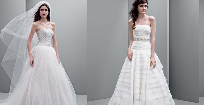 vera wang最新款婚纱抢先看图片