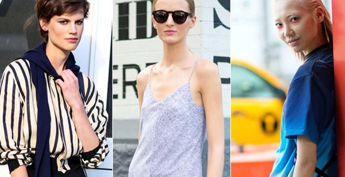 2015春夏纽约时装周长腿模特街拍