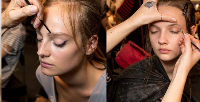 女人的小恶魔翅膀!普拉达 (Prada) 2015春夏米兰时装周秀场妆发