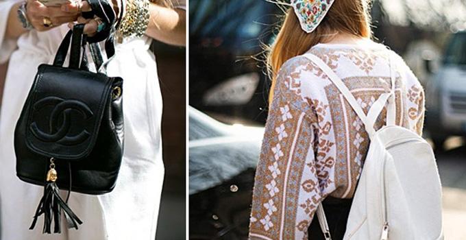 双肩包潮遍街拍榜 去时装周背它时髦又实用
