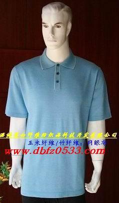 玉米、竹纤维:混纺男女T恤批发