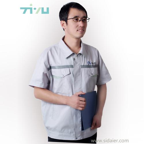 定做夏季短袖工作服 大连工装厂家订做