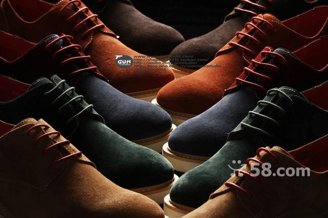 男款鞋子创意图片拍摄