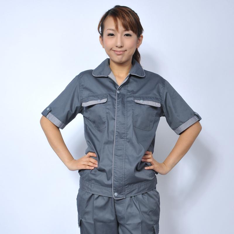潍坊含棉工作服款式男工装夏季劳保服定做批发电焊厂服半袖工程服女厂家直销