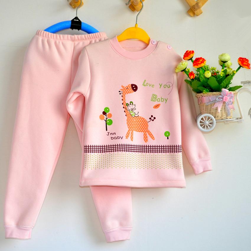 供应儿童套装加绒内衣儿童保暖内衣