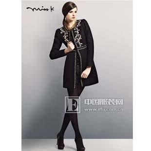 创尔 miss k秋冬新品呢子衣 优雅女人的选择