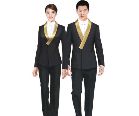 深圳冬季酒店服裝、前臺冬季制服、咨客冬季制服、廚師制服-丹騰服飾