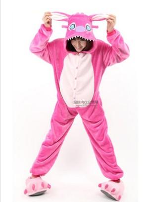 史迪仔2050 女士可爱风格 舒适宽松动物样式 家居服装