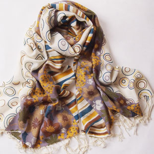 洪业羊绒供应高档围巾产品
